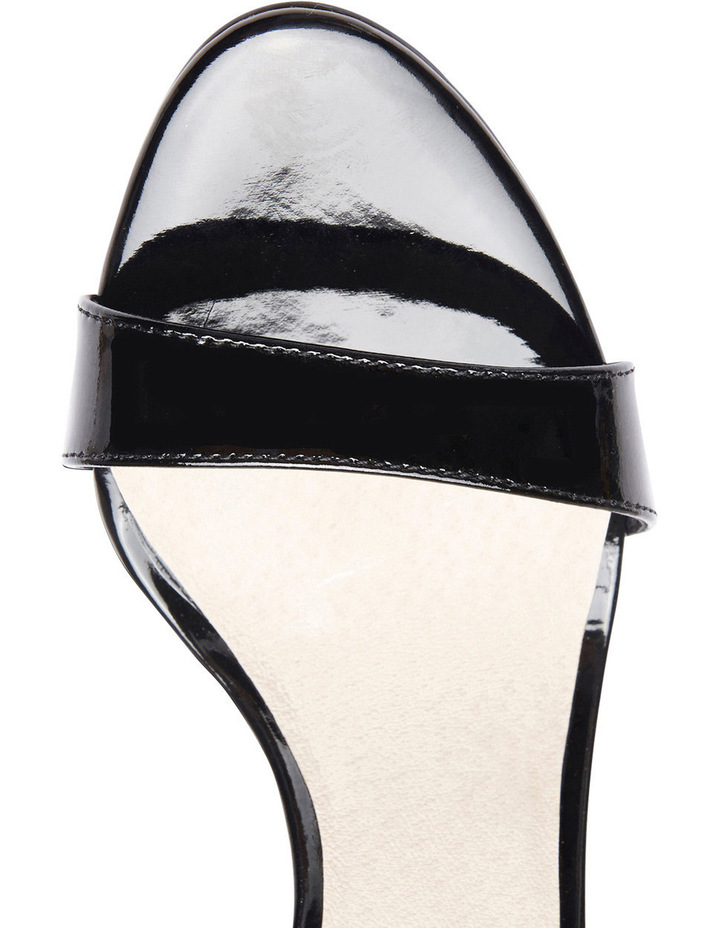 GODDESS Black Patent Stilletto Sandal image 4