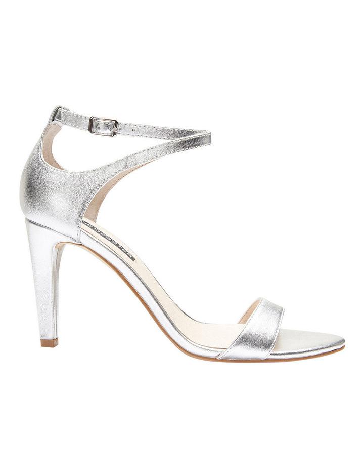 GODDESS Silver Metallic Stilletto Sandal image 1
