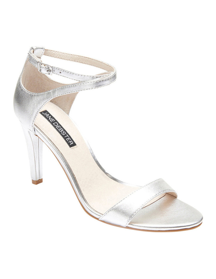 GODDESS Silver Metallic Stilletto Sandal image 2