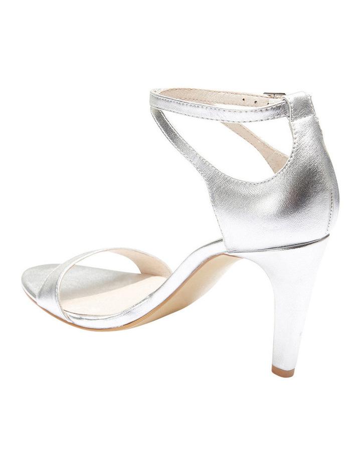 GODDESS Silver Metallic Stilletto Sandal image 3