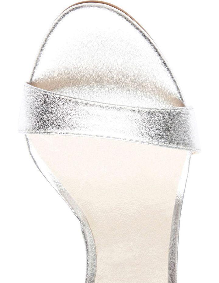 GODDESS Silver Metallic Stilletto Sandal image 4