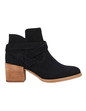 e9e7df18c17bc Hush Puppies Elena Black Suede Boot