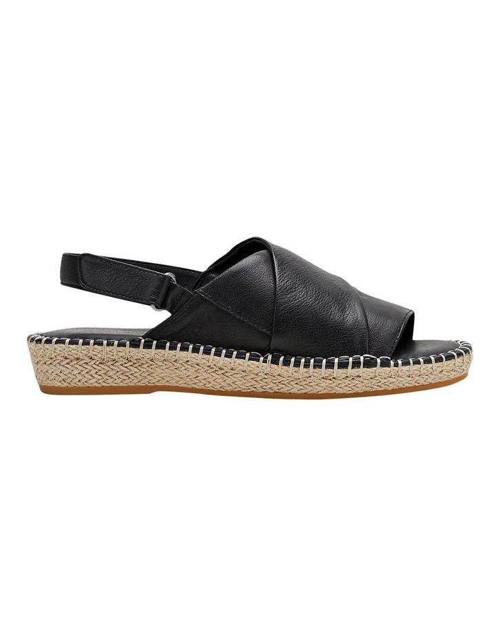 Birch Black Leather Espadrille Flatform Sandal image 1