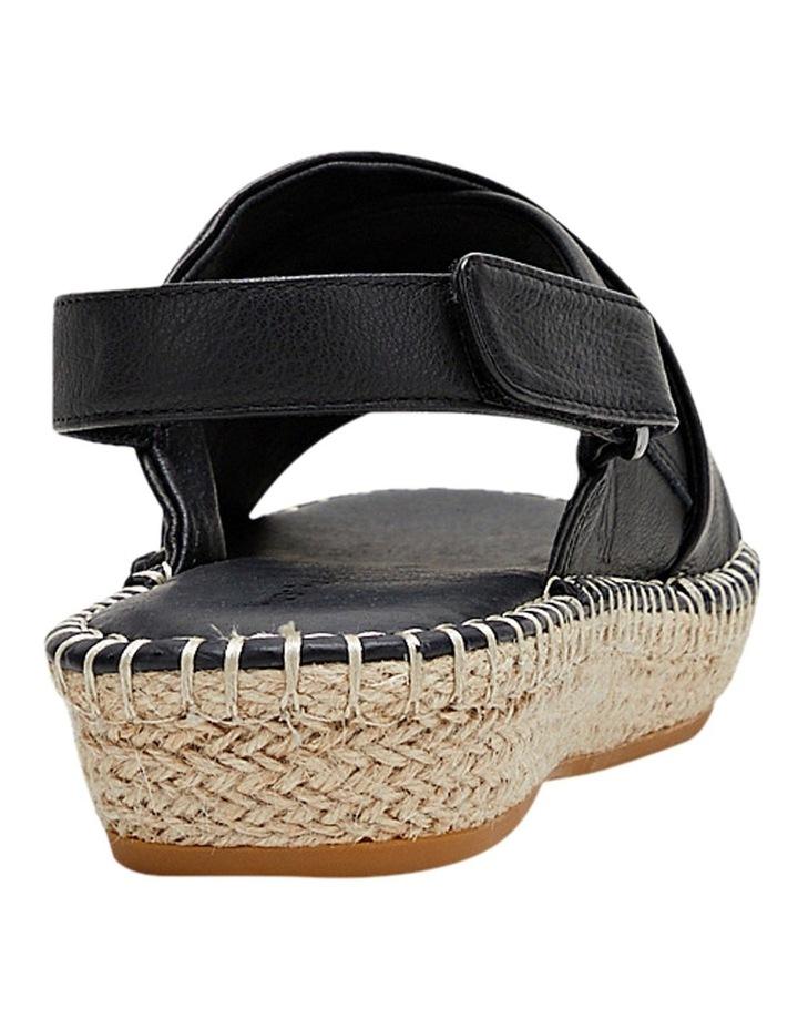 Birch Black Leather Espadrille Flatform Sandal image 2