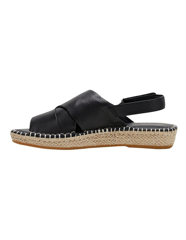 Birch Black Leather Espadrille Flatform Sandal image 3