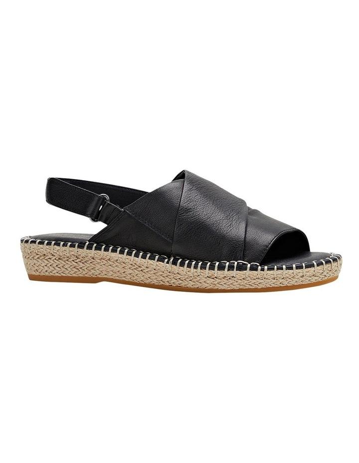 Birch Black Leather Espadrille Flatform Sandal image 5