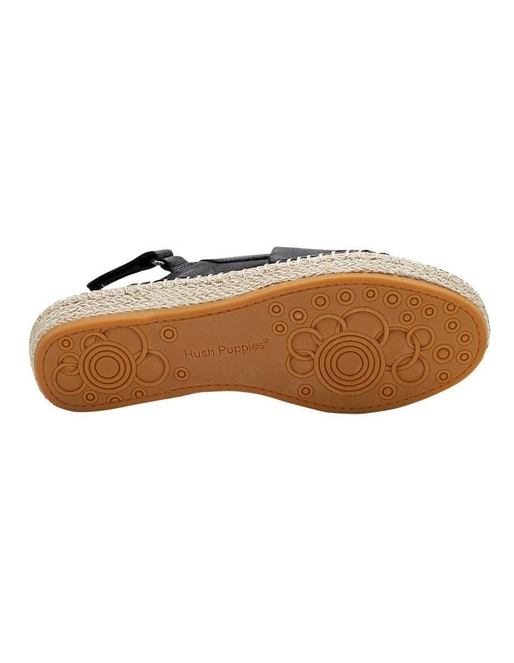 Birch Black Leather Espadrille Flatform Sandal image 6