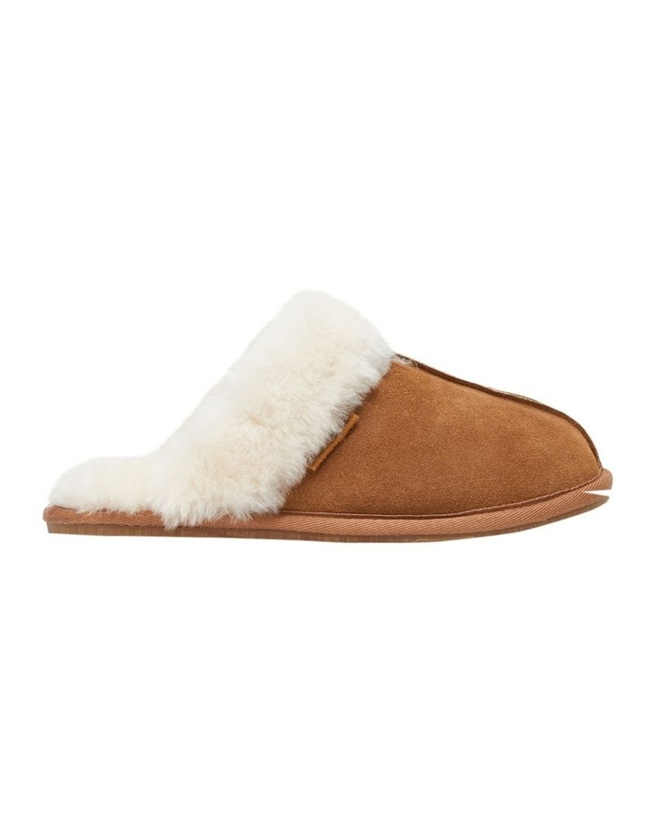Cushy Chestnut Suede Slipper image 1