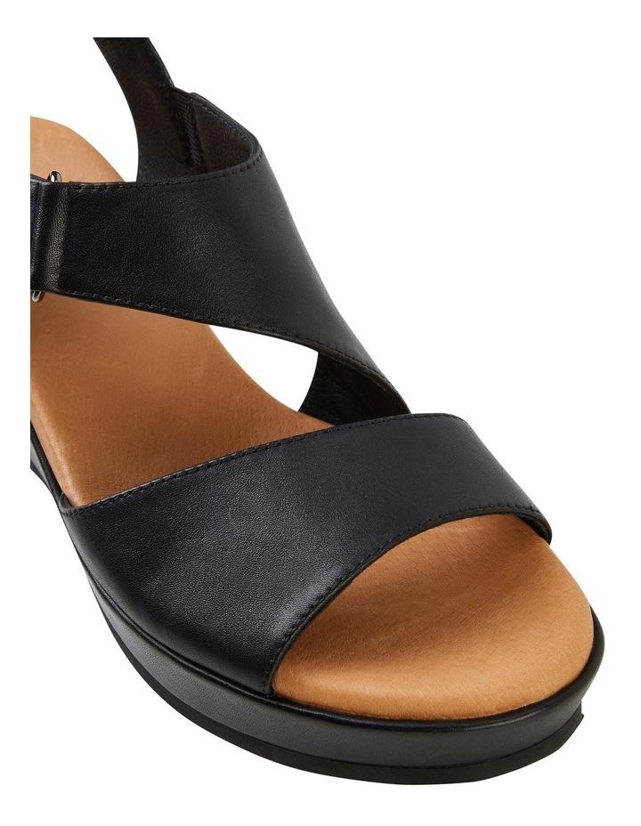 Antigua Black Leather Wedge image 2