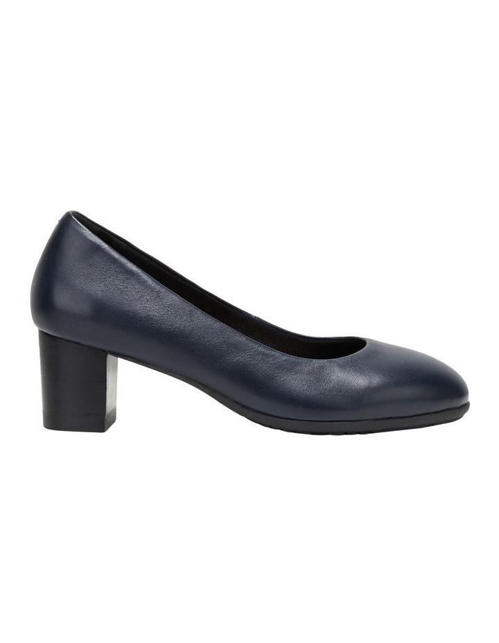 The Block Heel Navy Heeled Shoe image 1