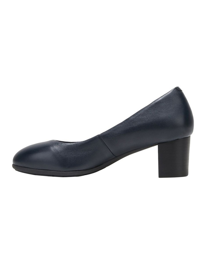 The Block Heel Navy Heeled Shoe image 3