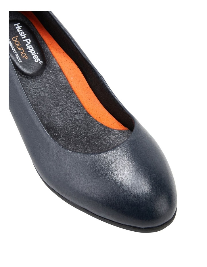 The Block Heel Navy Heeled Shoe image 4