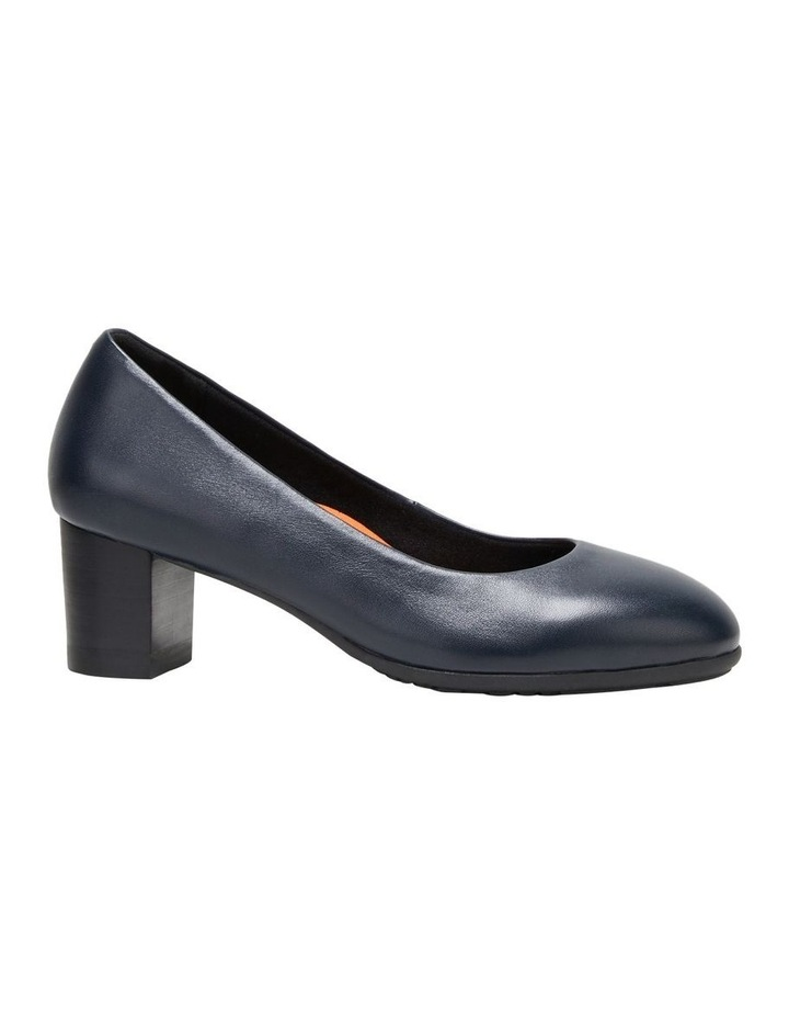 The Block Heel Navy Heeled Shoe image 5