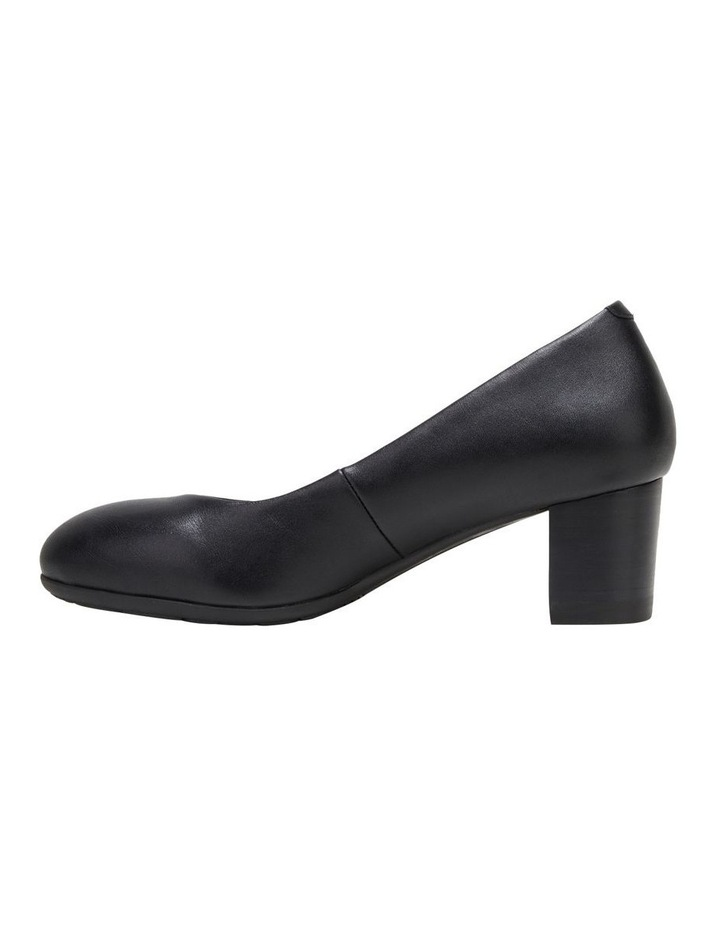 The Block Heel Black Heeled Shoe image 3