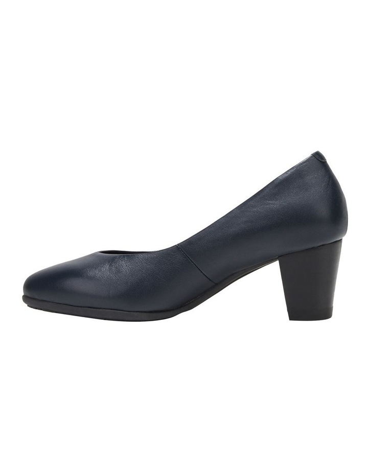 The Point Navy Heeled Shoe image 3