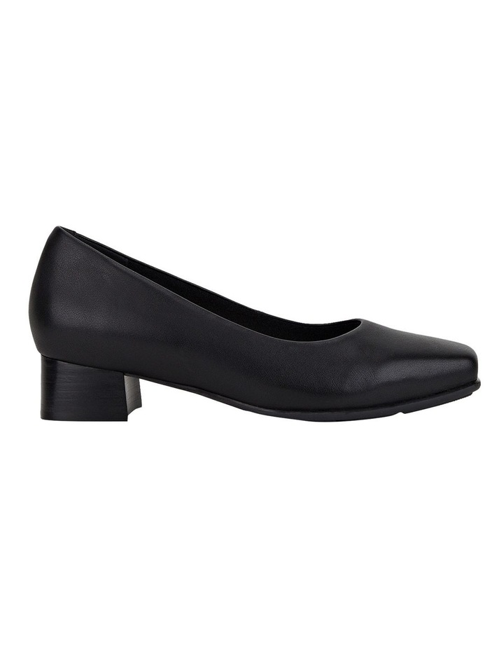 The Low Square Black Heeled Shoe image 1