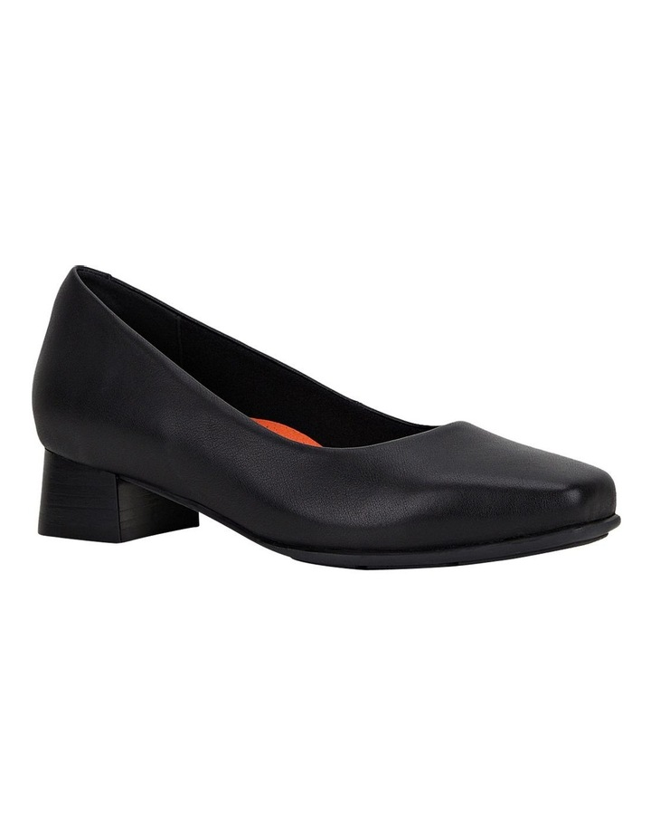 The Low Square Black Heeled Shoe image 3
