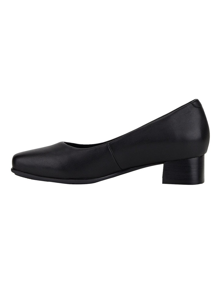 The Low Square Black Heeled Shoe image 5