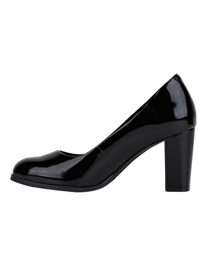 The Tall Pump Black Patent Heeled Shoe image 3