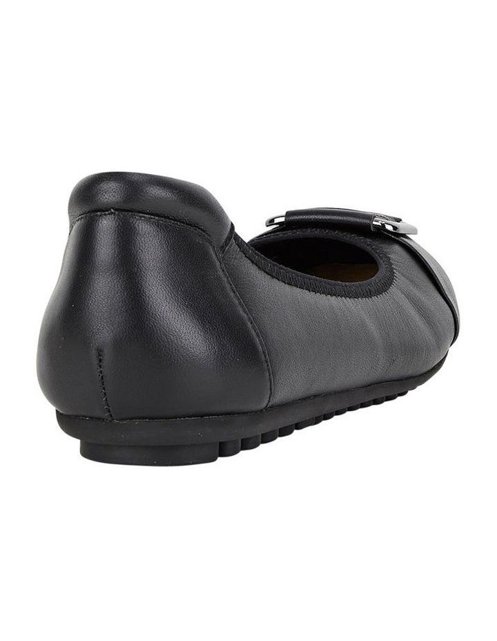 Loren Black Flat Shoes image 2