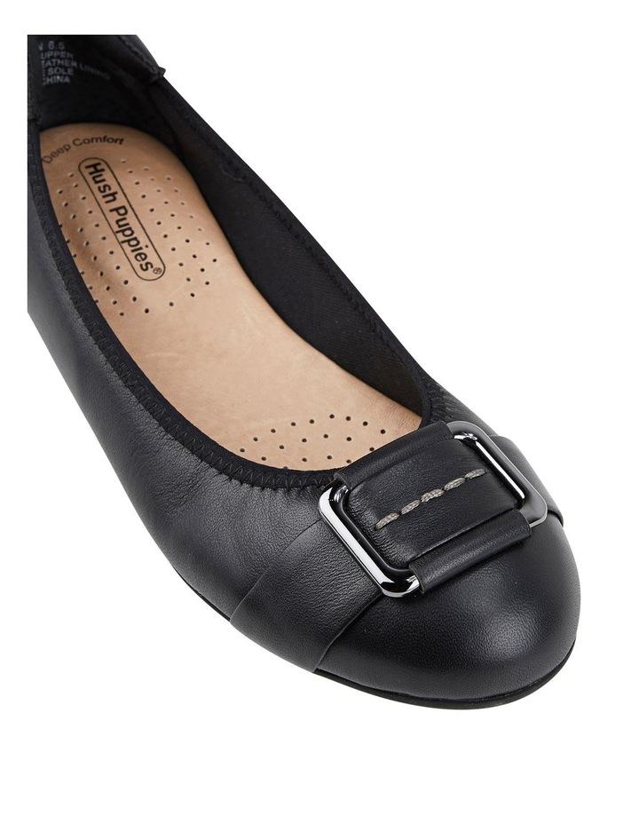 Loren Black Flat Shoes image 4
