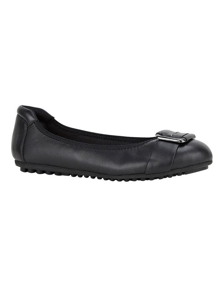 Loren Black Flat Shoes image 5