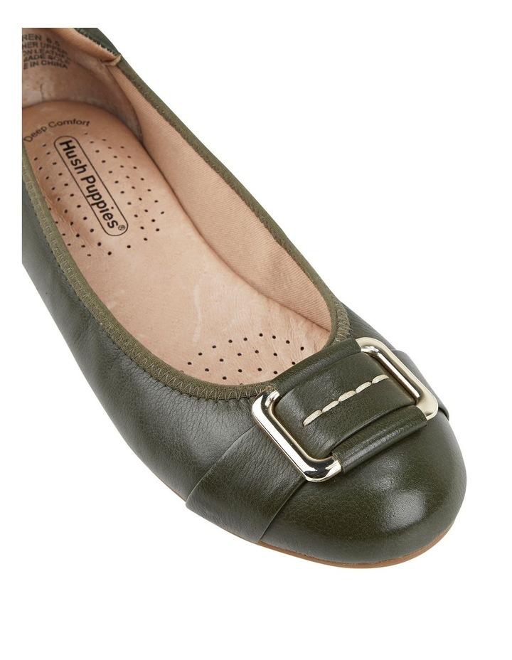 Loren Flat Olive Shoes image 2