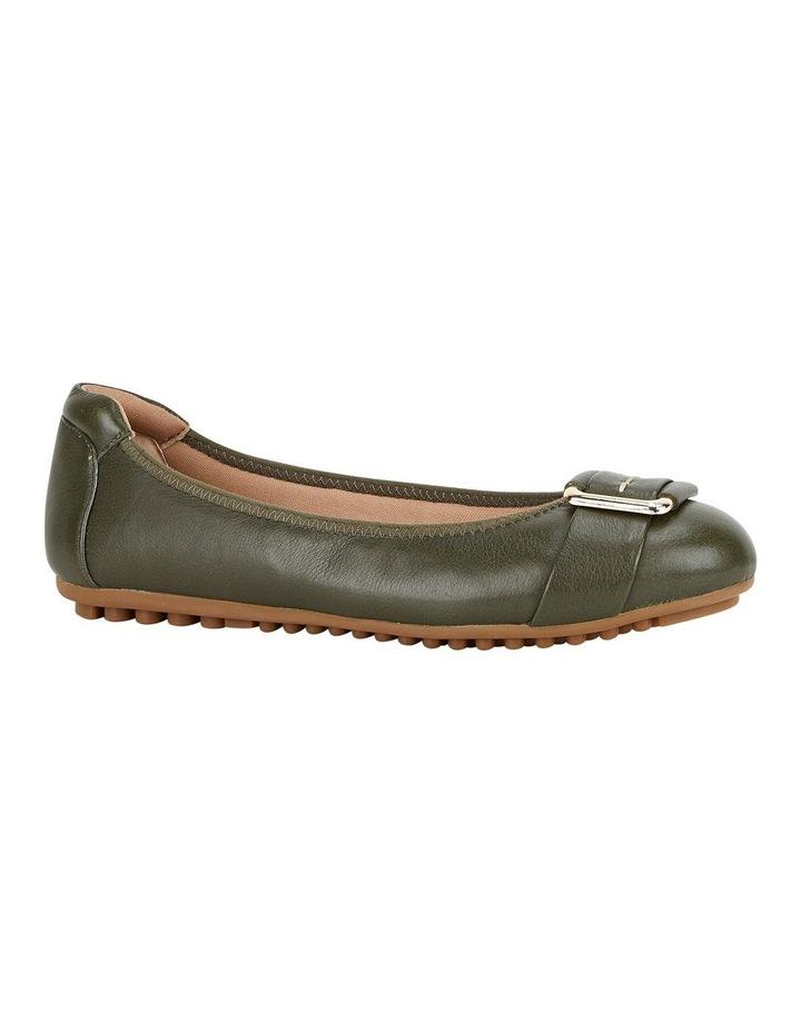 Loren Flat Olive Shoes image 3
