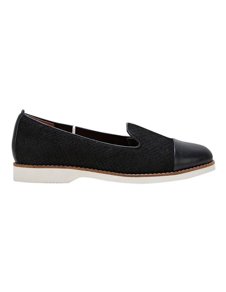 Demi Black Snake Flat Shoe image 1