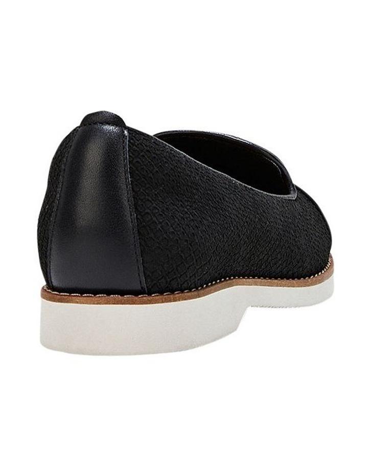 Demi Black Snake Flat Shoe image 2
