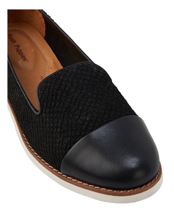 Demi Black Snake Flat Shoe image 4