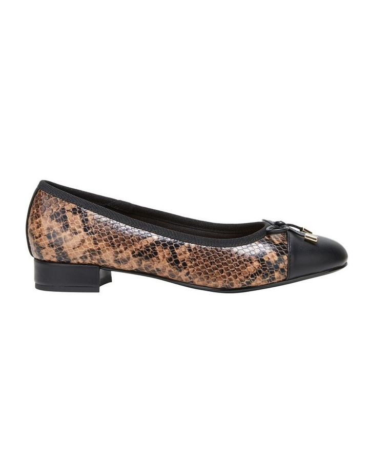 Divine Brown Snake Flat Shoe image 1