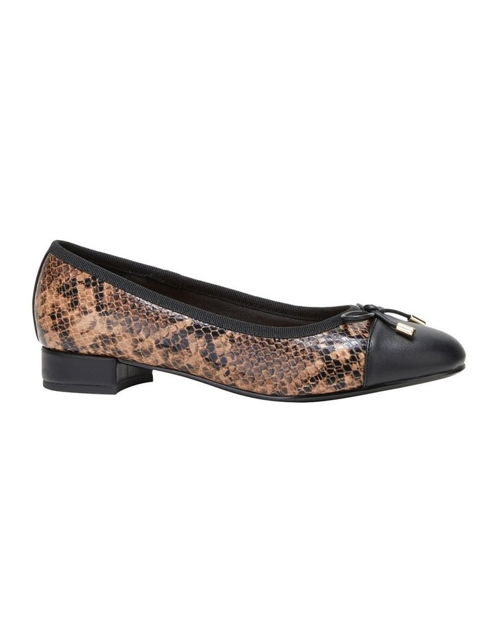 Divine Brown Snake Flat Shoe image 5