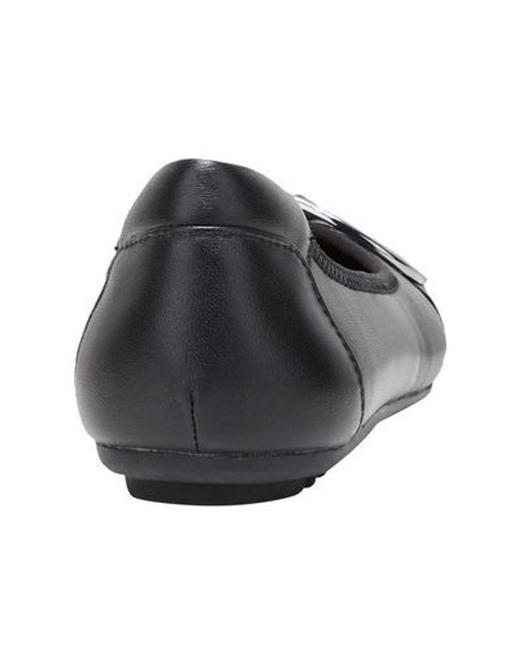 Laina Black Flat Shoe image 2