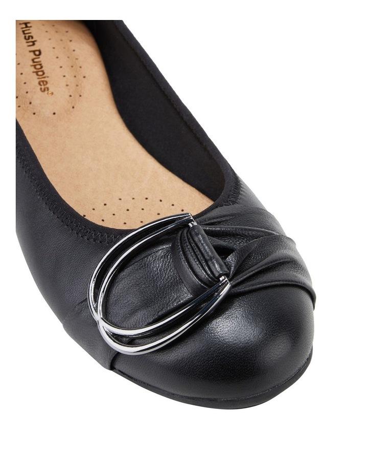 Laina Black Flat Shoe image 4