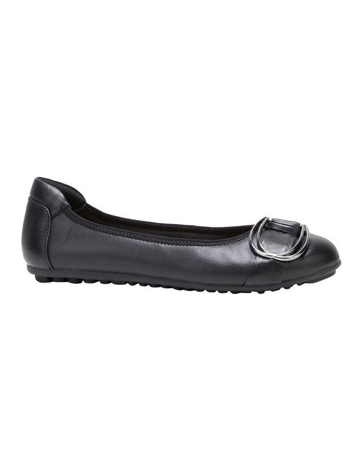 Laina Black Flat Shoe image 5