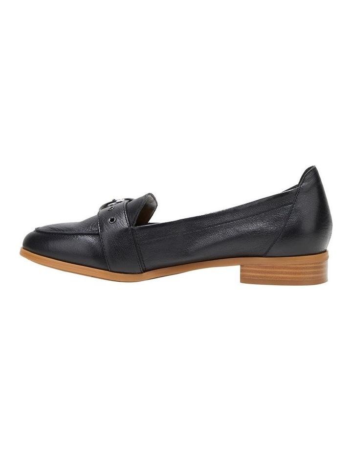 Luxe Black Flat Shoe image 3