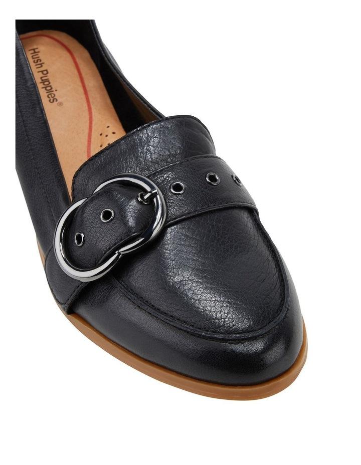 Luxe Black Flat Shoe image 4