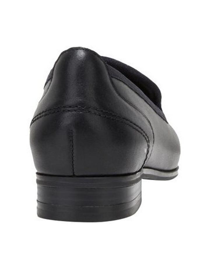 The Albert Black Flat Shoe image 2