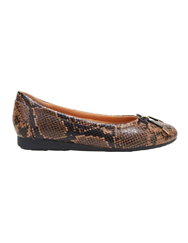 The Ballet Brown Snake Flat Shoe image 1