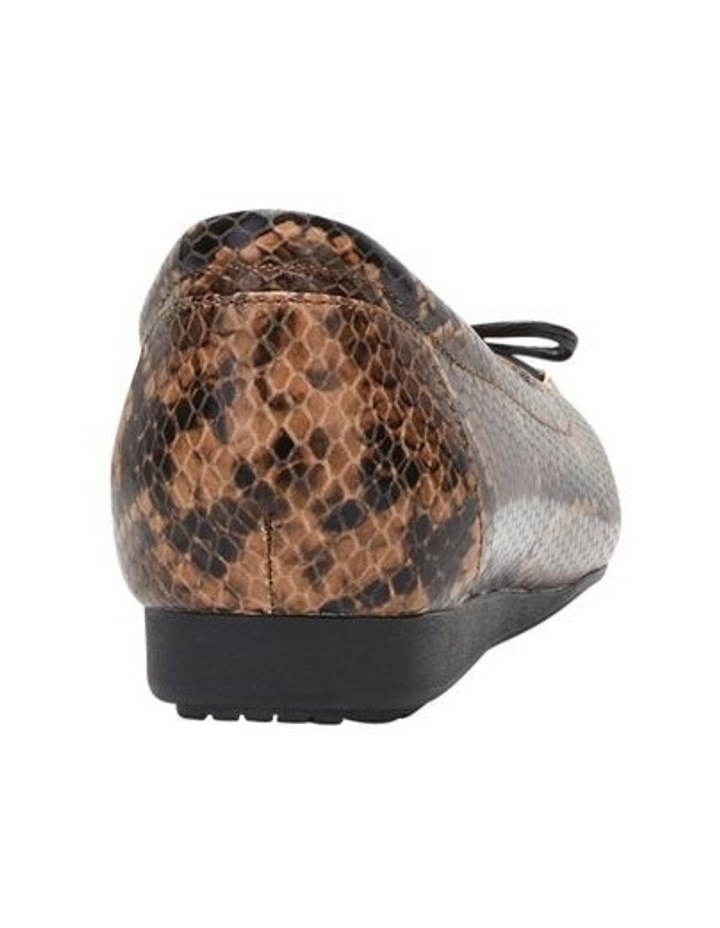 The Ballet Brown Snake Flat Shoe image 2