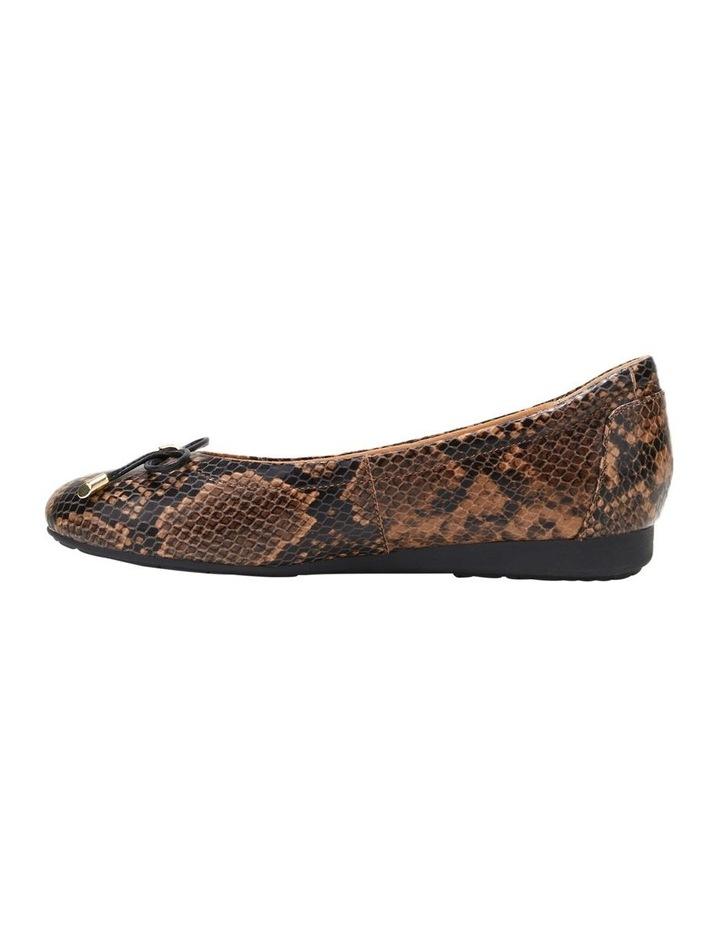 The Ballet Brown Snake Flat Shoe image 3