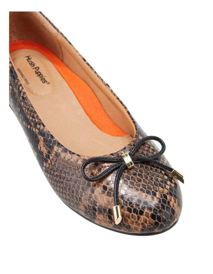 The Ballet Brown Snake Flat Shoe image 4