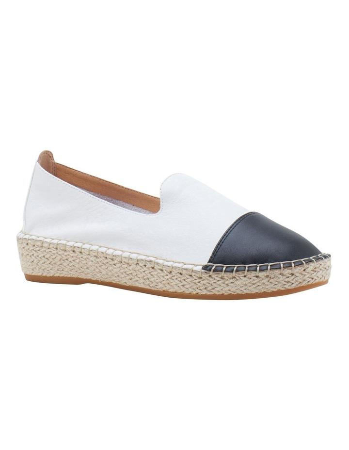 Banu White Black Flat Shoe image 2