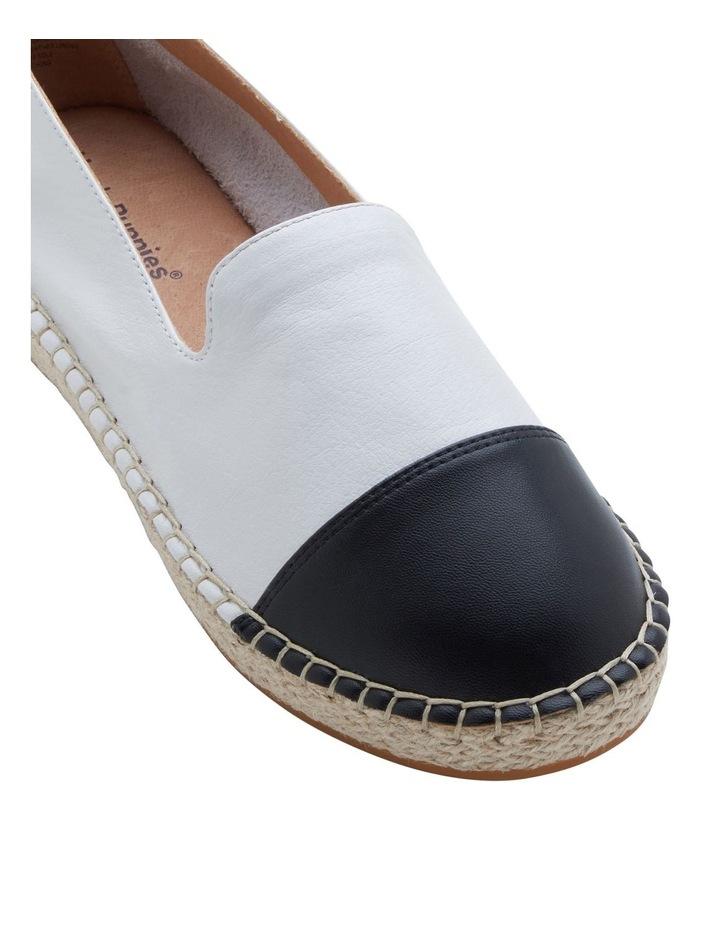 Banu White Black Flat Shoe image 3