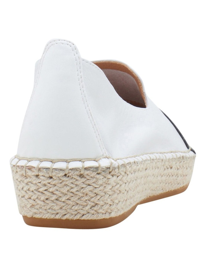 Banu White Black Flat Shoe image 4