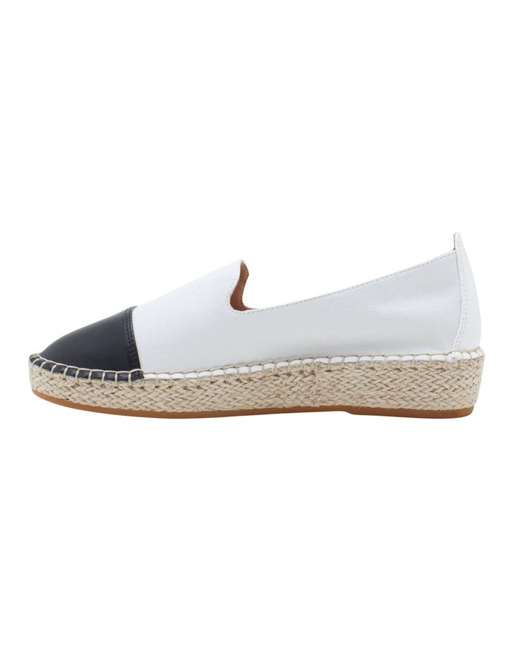 Banu White Black Flat Shoe image 5