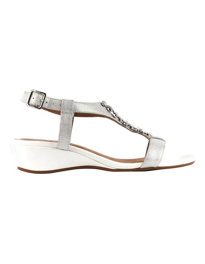 Cardin White Metallic Sandal image 2
