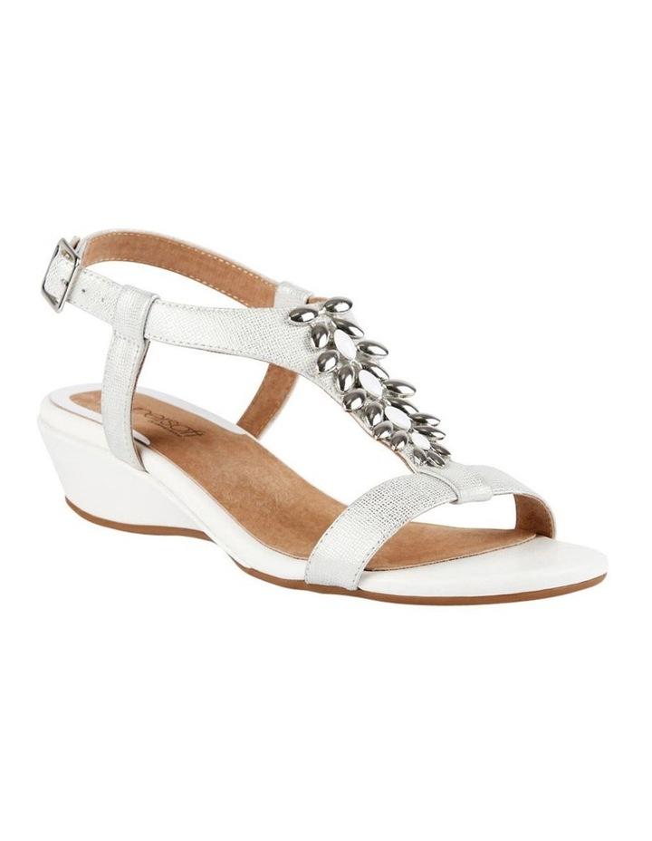 Cardin White Metallic Sandal image 4
