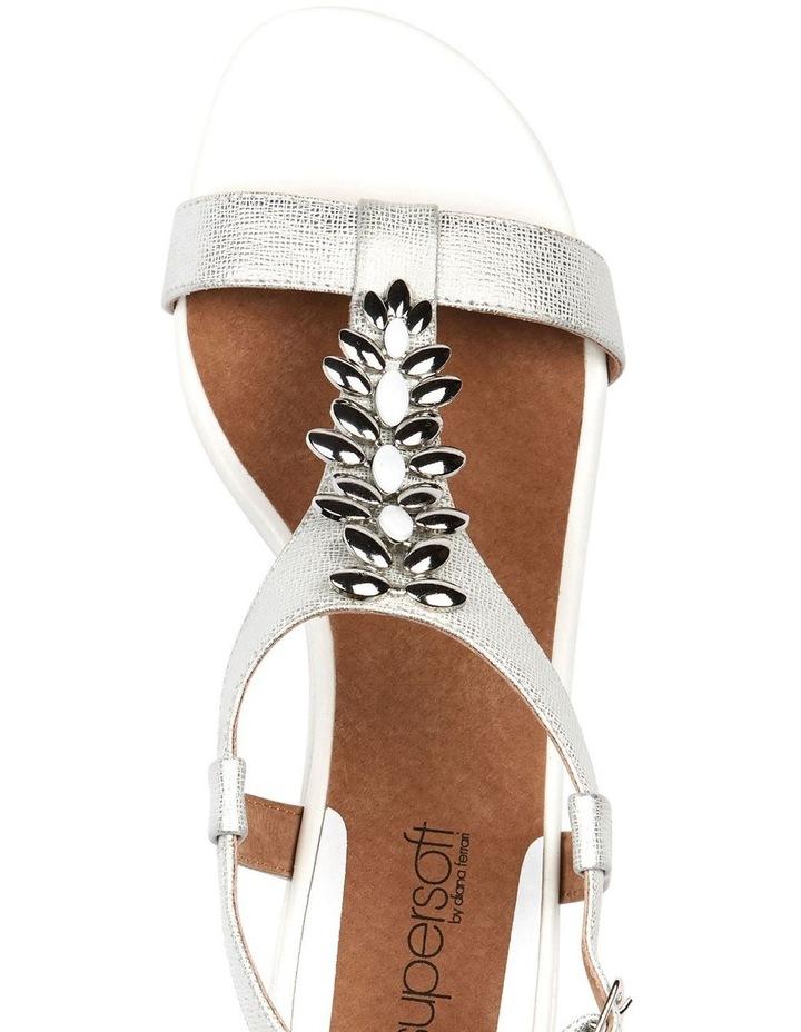 Cardin White Metallic Sandal image 6
